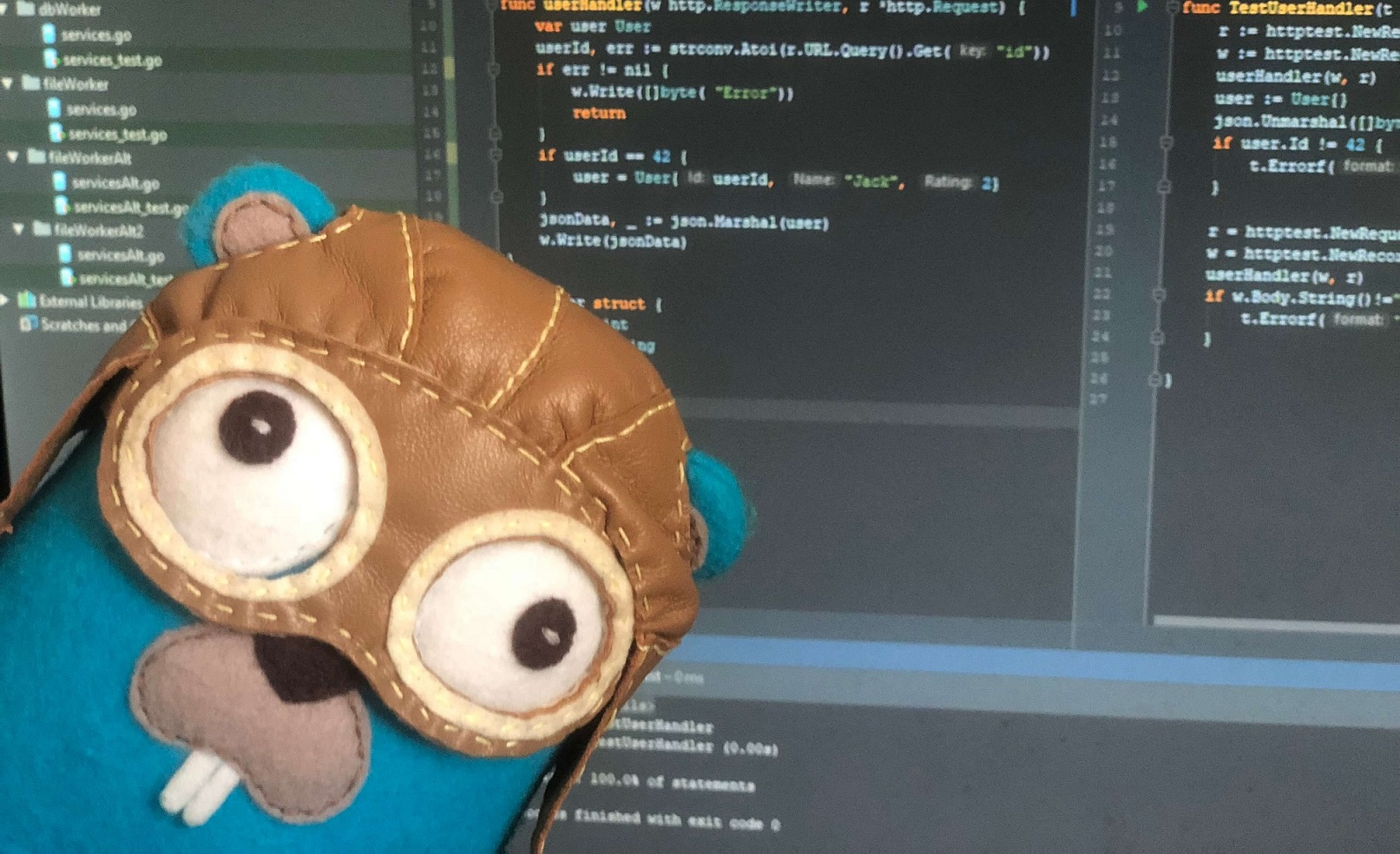 Golang testing outside the gotour
