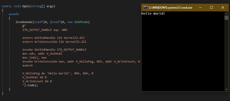 [Из песочницы] Ассемблерные вставки… в C#?
