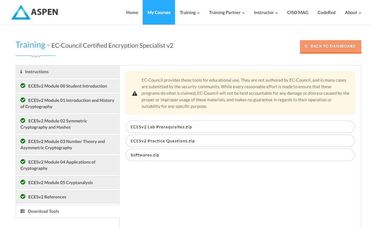 Из песочницы Сертифицированный специалист по шифрованию (EC-Council ECES)