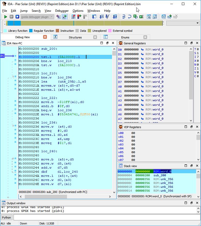 Модернизация IDA Pro. Отладчик для Sega Mega Drive (часть 2)