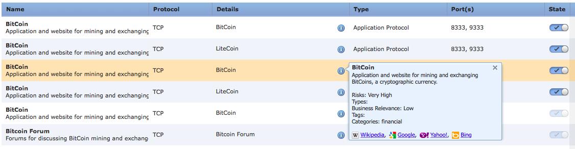 Декодеры протокола Bitcoin в Firepower