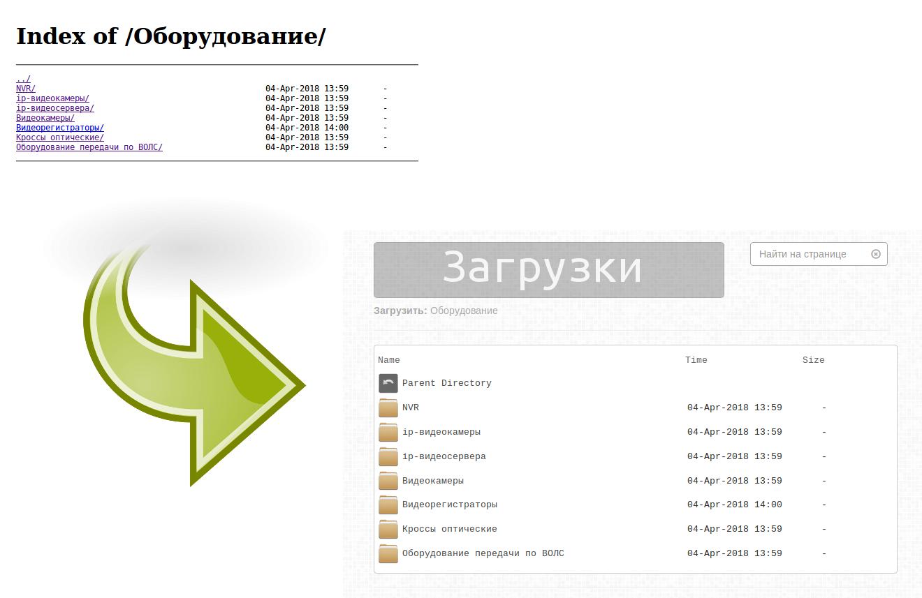 Красивый листинг файлов и директорий в nginx