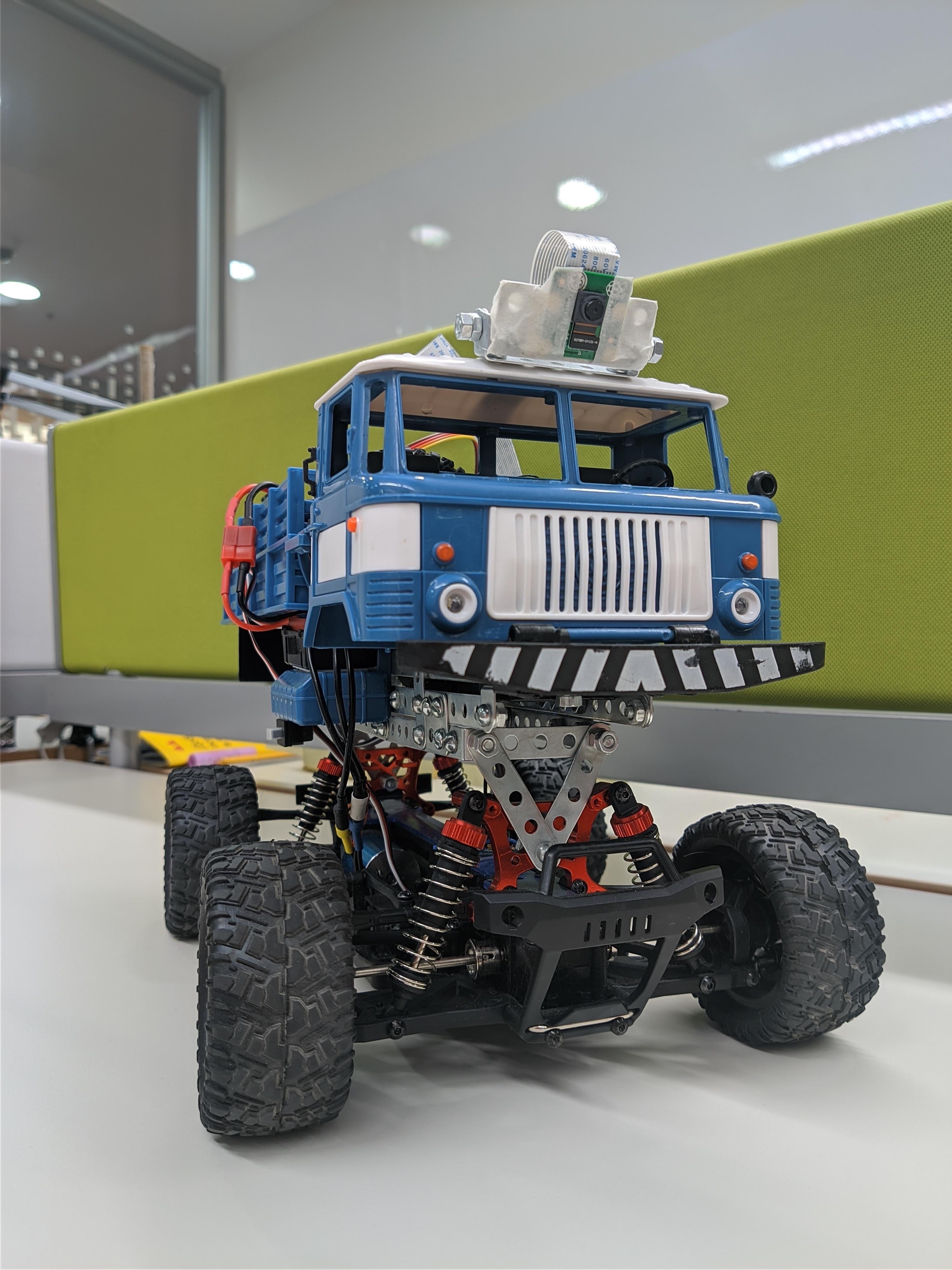 [Из песочницы] Self-driving ГАЗ66 Monster Truck 1/16