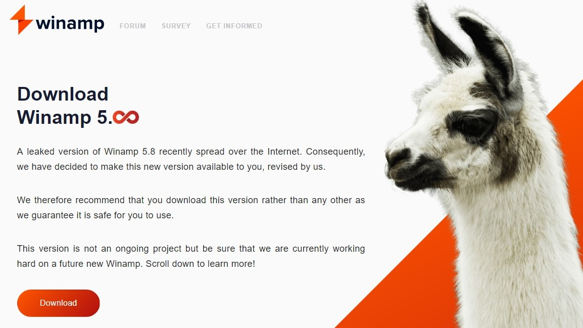 """Waiting for the sixth, Winamp 5.8: the """"mystery"""" of origin, the possibilities of the official version"""