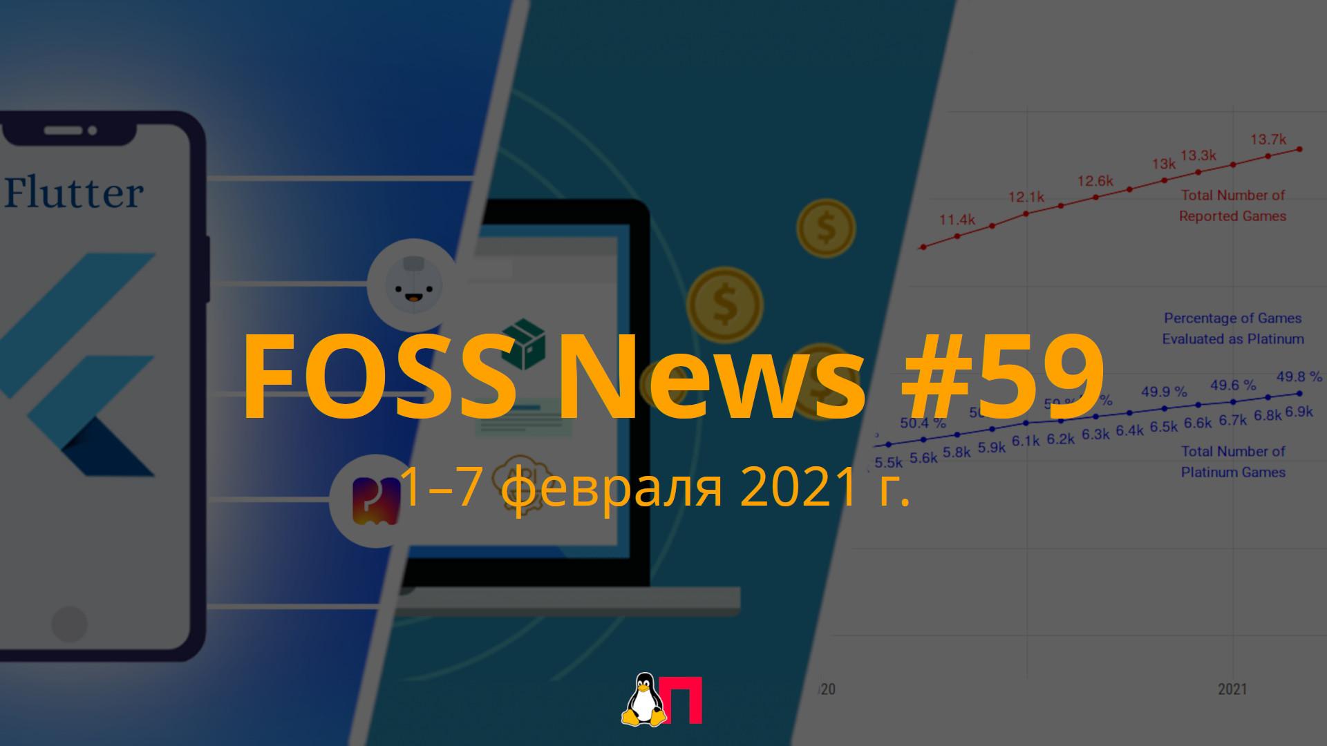 FOSS News 59  дайджест материалов о свободном и открытом ПО за 1-7 марта 2021 года