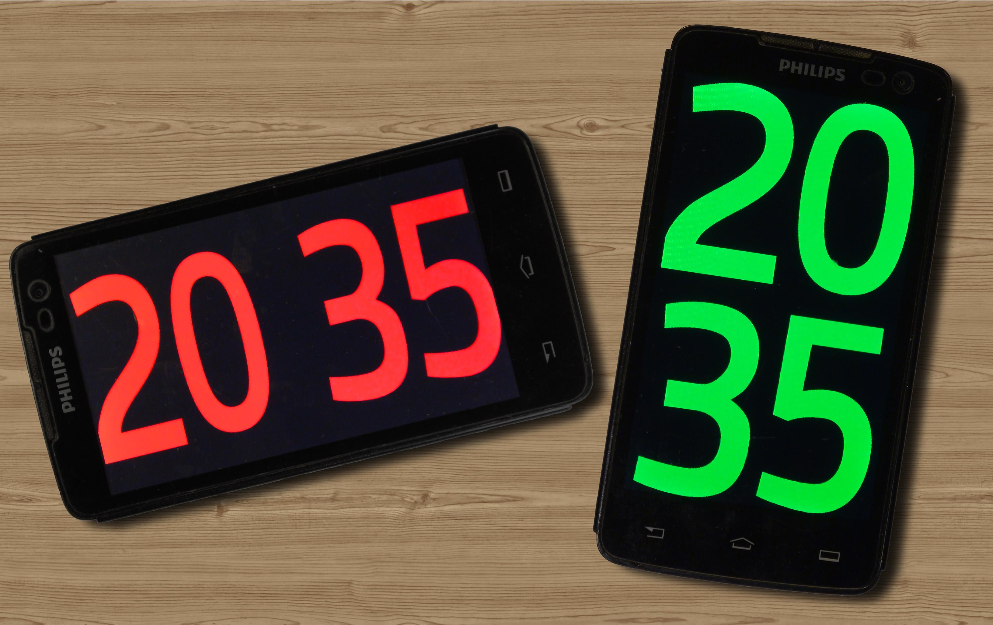 [Из песочницы] Красивые точные часы из старого смартфона