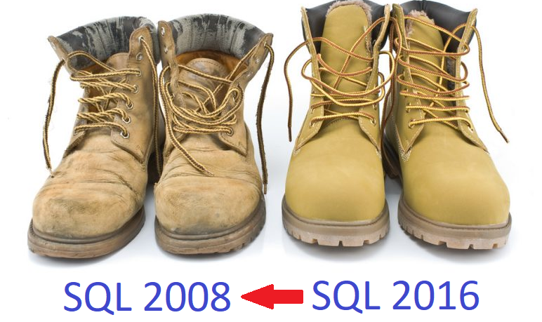Transferring the database to an older version of MS SQL Server