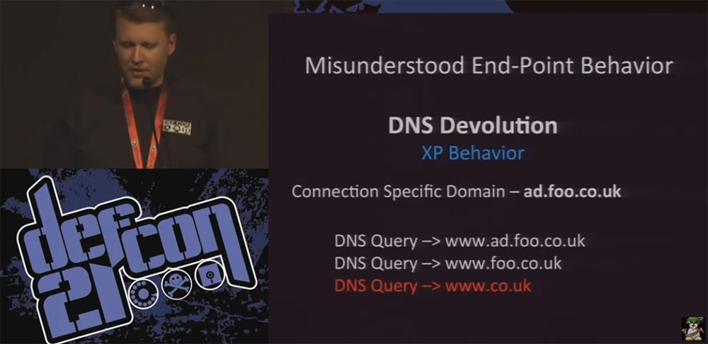 Conference DEFCON 21. DNS can be dangerous for your health. Part 2