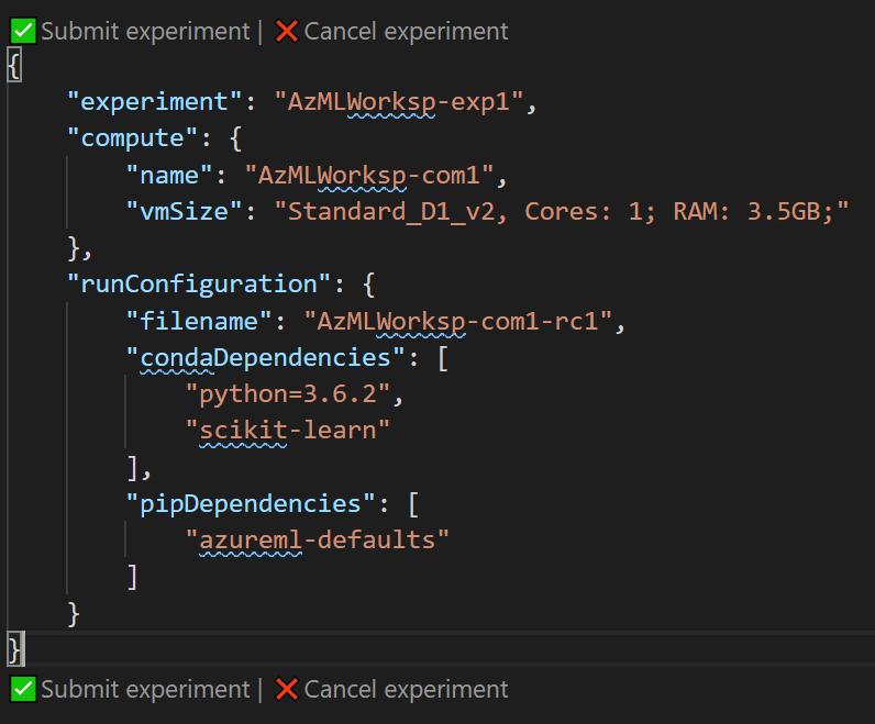 Azure ML Workspace in VS Code