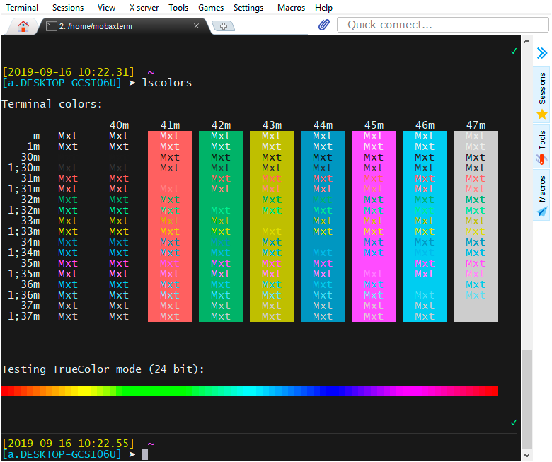 Поддержка 24-bit цветов в терминале в связке ssh + tmux + neovim