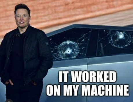 it worked on my machine