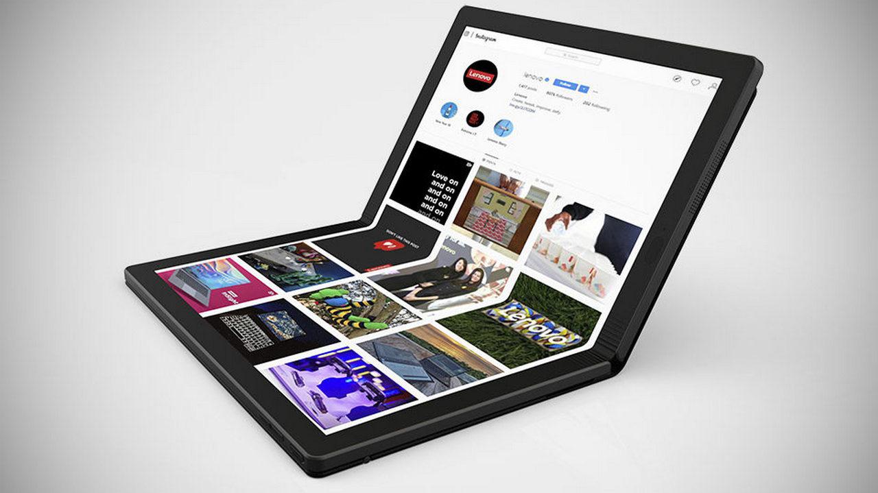 Lenovo ThinkPad X1 Fold  первый в мире ноутбук с гибким экраном
