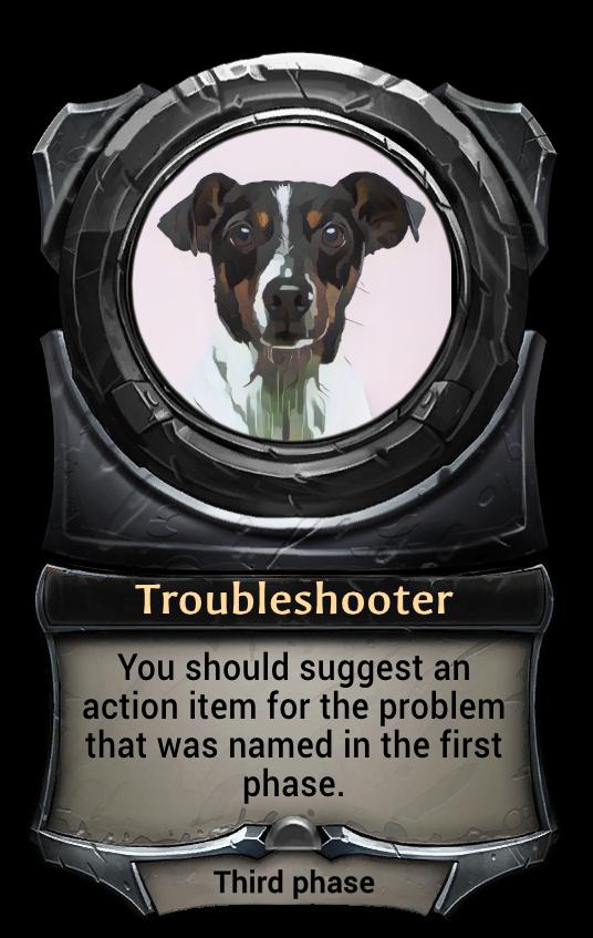 Макет карточки Troubleshooter