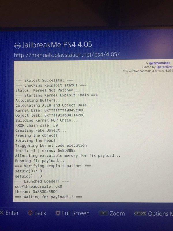 Доступен рабочий эксплойт для взлома Sony PlayStation 4