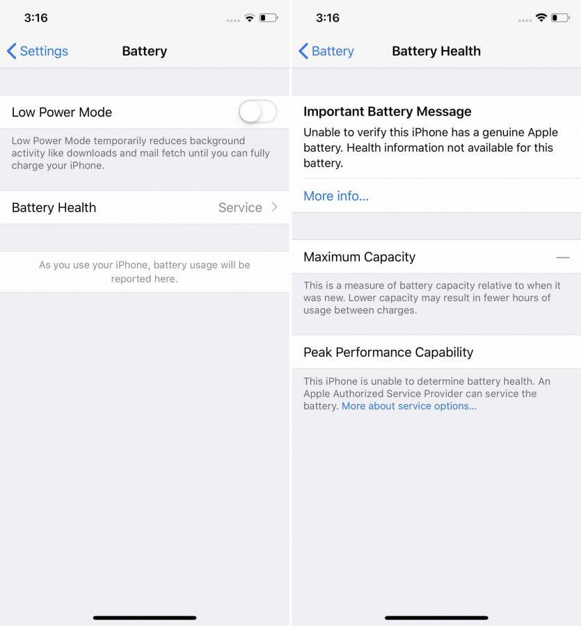 Apple запретила менять батарею iPhone