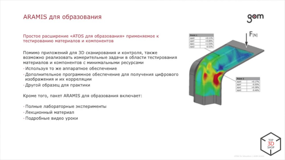 Presentation of GOM Atos 5 / 5X 3D scanners at Top 3D Expo / Sudo
