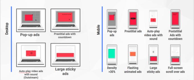 Примеры блокировки рекламы в новом обновлении