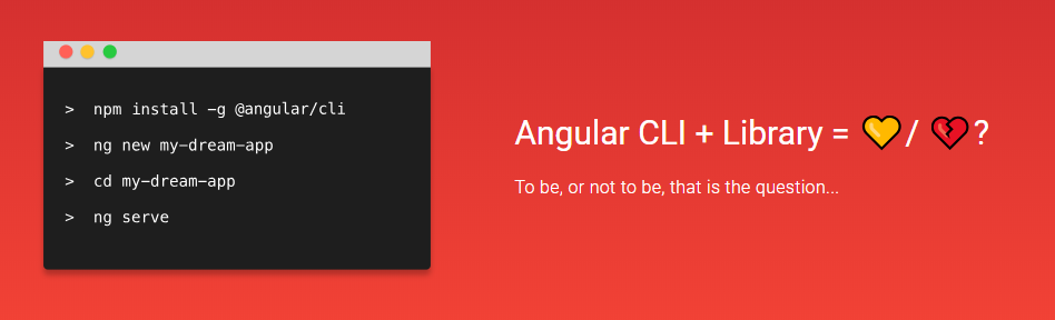 We test the creation of a component library for Angular using the new command for Angular /Cli - library