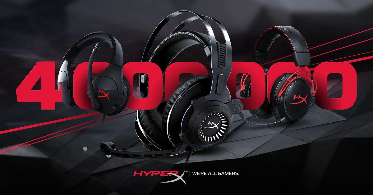 Продано! 4 миллиона гарнитур HyperX нашли своих счастливых обладателей