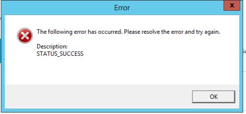 Error success и что делать по этому поводу