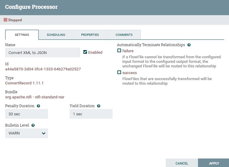 Импорт ЕГРЮЛ ФНС средствами Apache NiFi. Шаг 2  преобразование XML в JSON