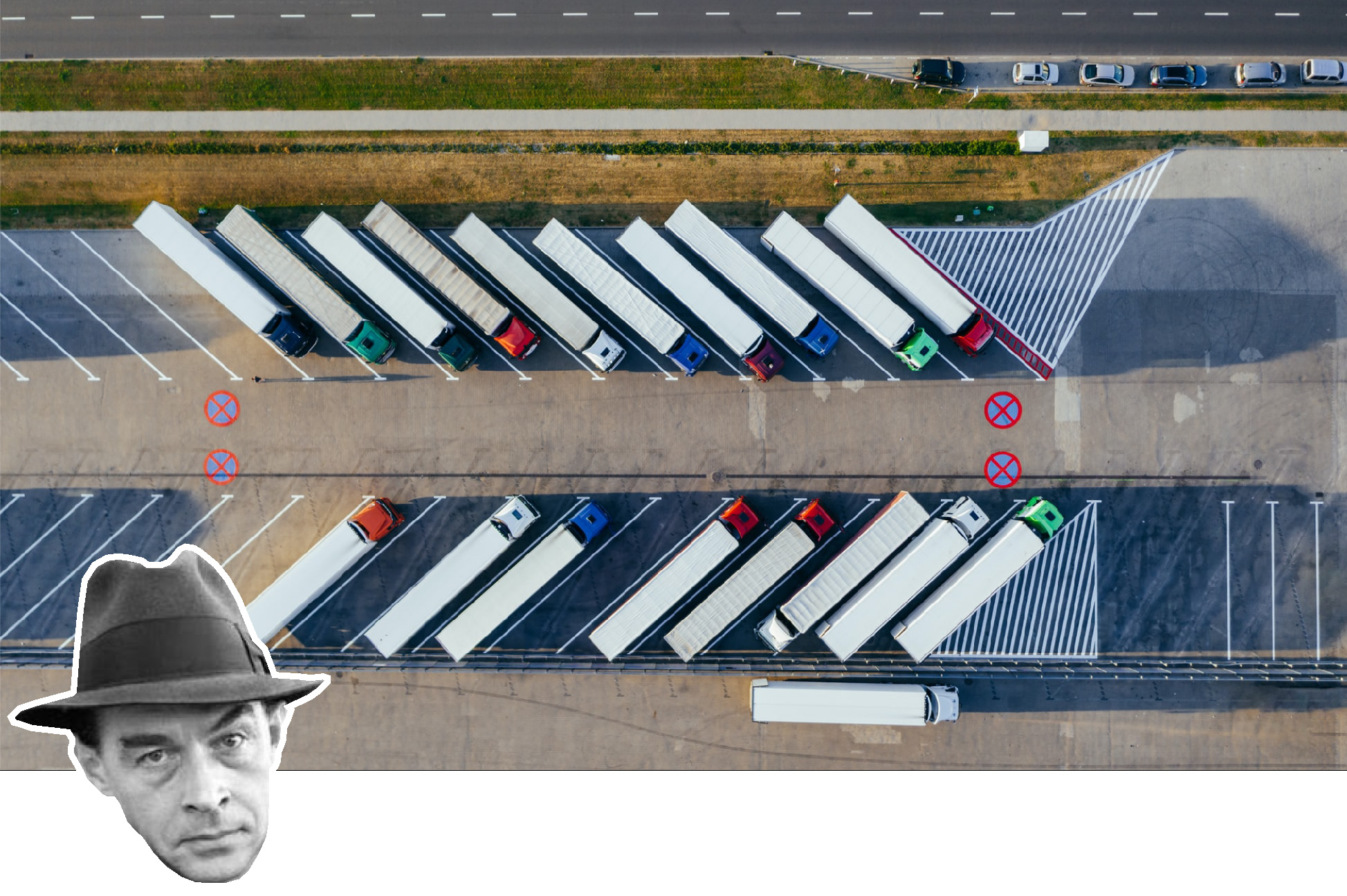 Parallel trucks (image by Unsplash