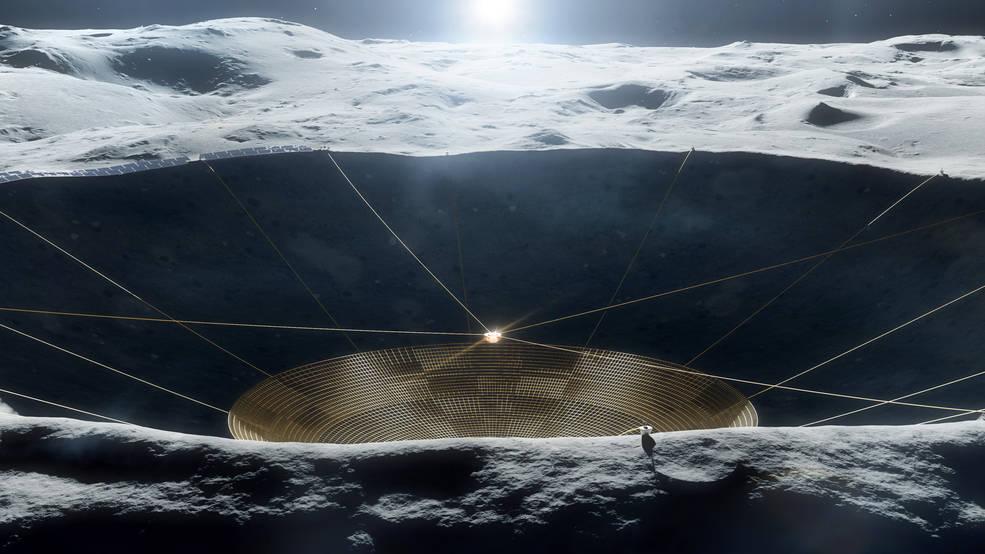 Радиотелескоп на обратной стороне Луны зачем он там нужен и чем поможет науке