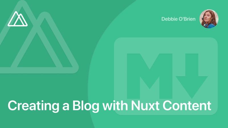 Создание блога на Nuxt Content