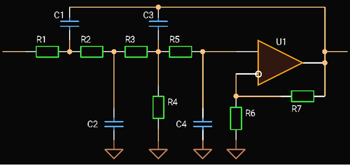 Fourth Order Sallen-Key Low-pass Filter