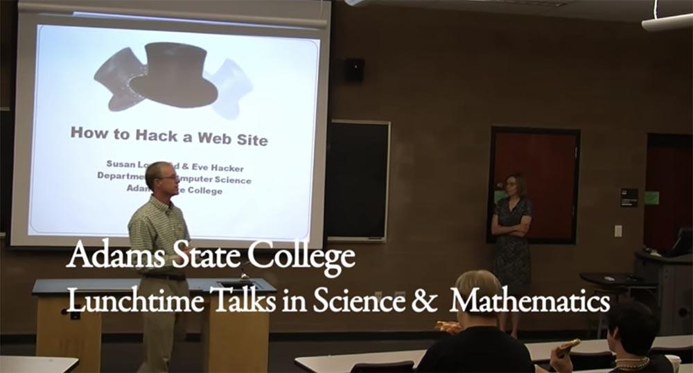 QnA VBage [Перевод] Государственный университет Адамс. Как взламывать веб-сайты. Часть 1