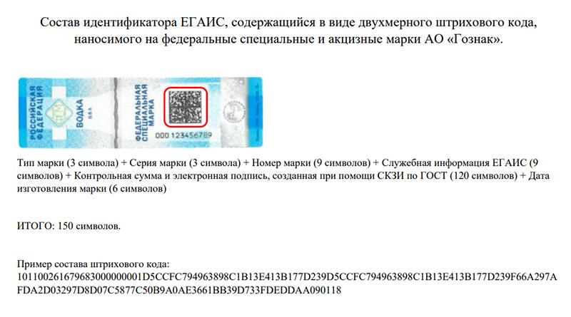 Обновленный образцец акцизной марки с 01.07.2018