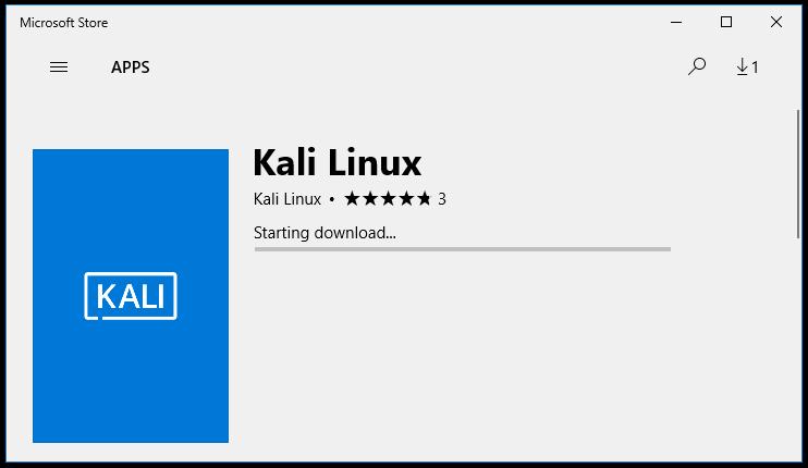 Kali Linux теперь доступен в Windows App Store