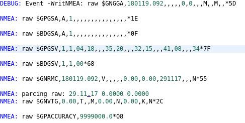 Парсинг NMEA GNSS для микроконтроллеров и встраиваемых систем