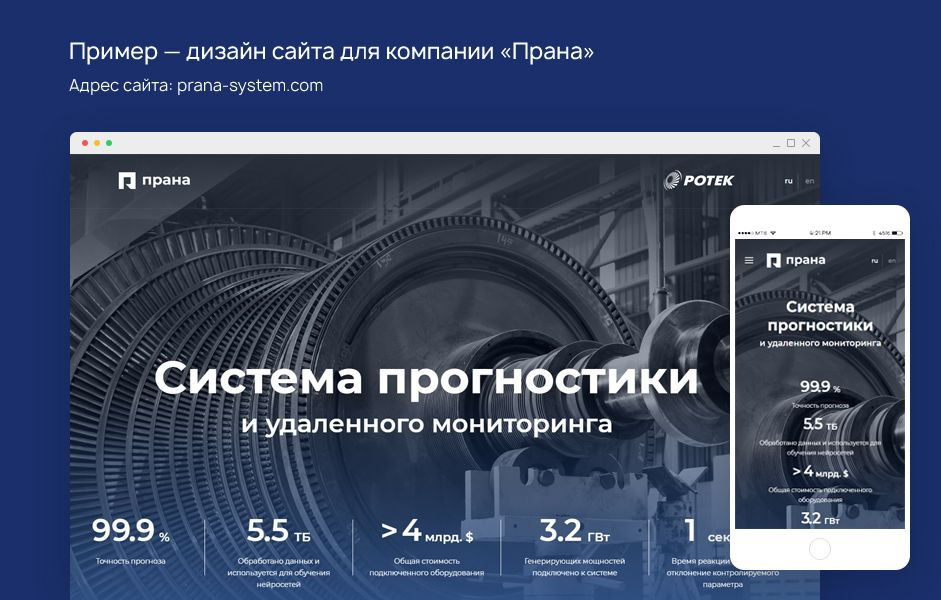Дизайн сайта компании Innolabs