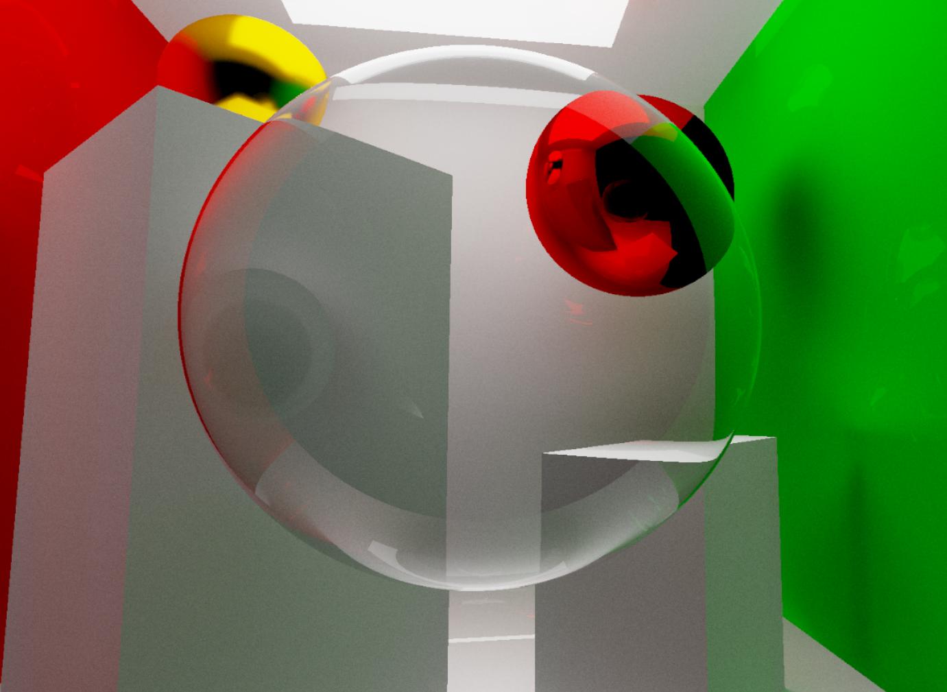 преломление света при взгляде сквозь прозрачную сферу