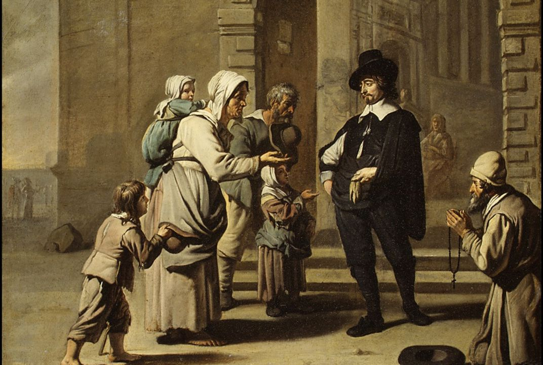 professional beggars were often seen as people not deserving of aid