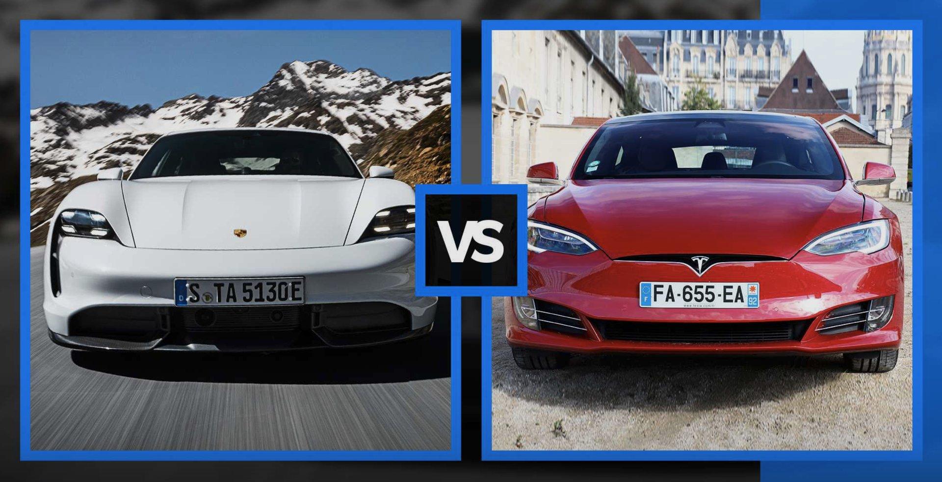 Сравнение Tesla Model S и Porsche Taycan