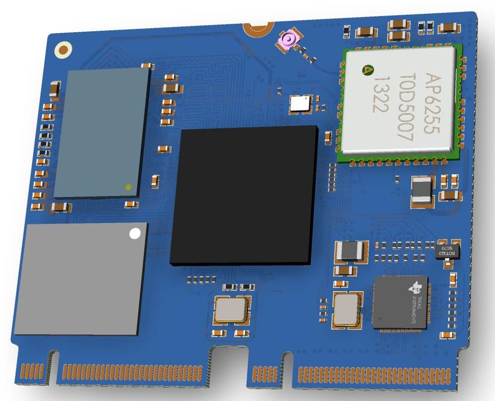 Рендер модуля Allwinner на основе чипа XuanTie C906