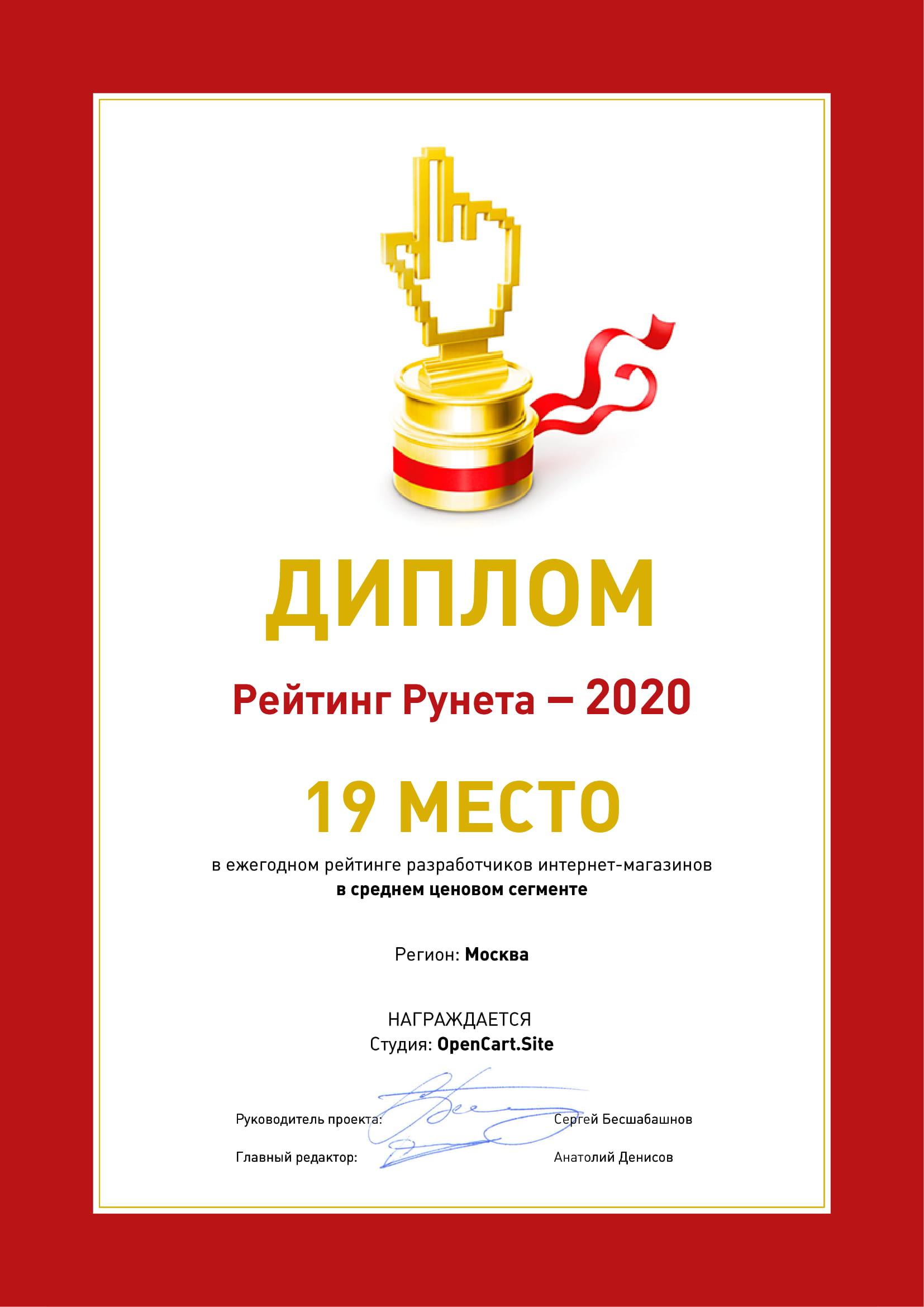 Топ 20 разработчиков интернет магазинов в Москве