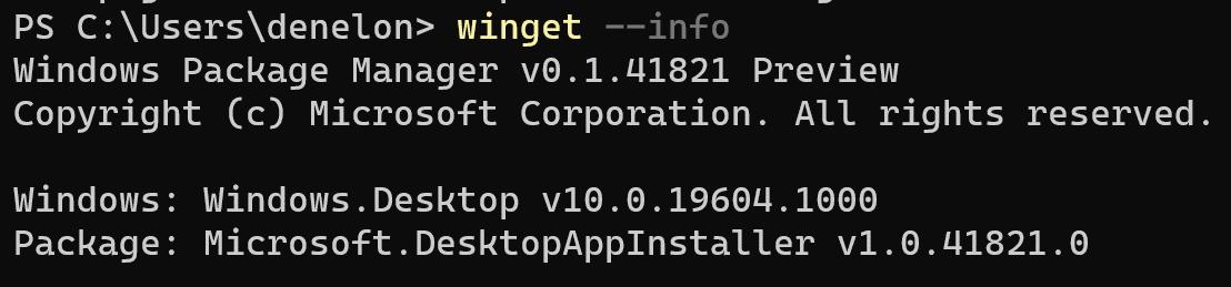 Перевод Вышло первое обновление Windows Package Manager Preview (v0.1.41821)