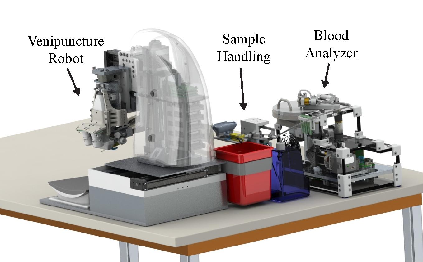 Роботизированная система ускоряет забор крови и проведение анализов
