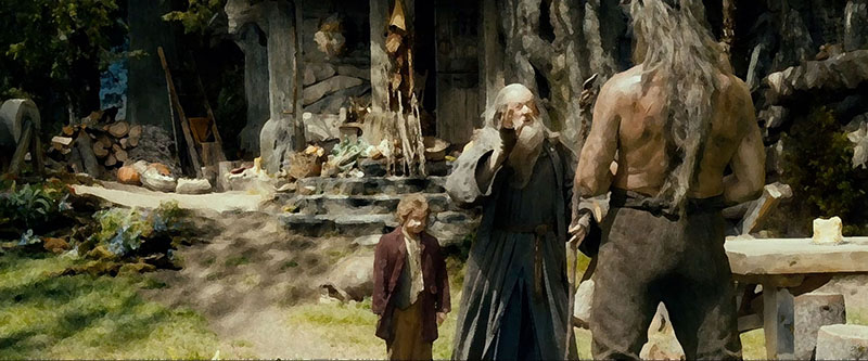 Gandalf and the gnomes in the house of Beorn