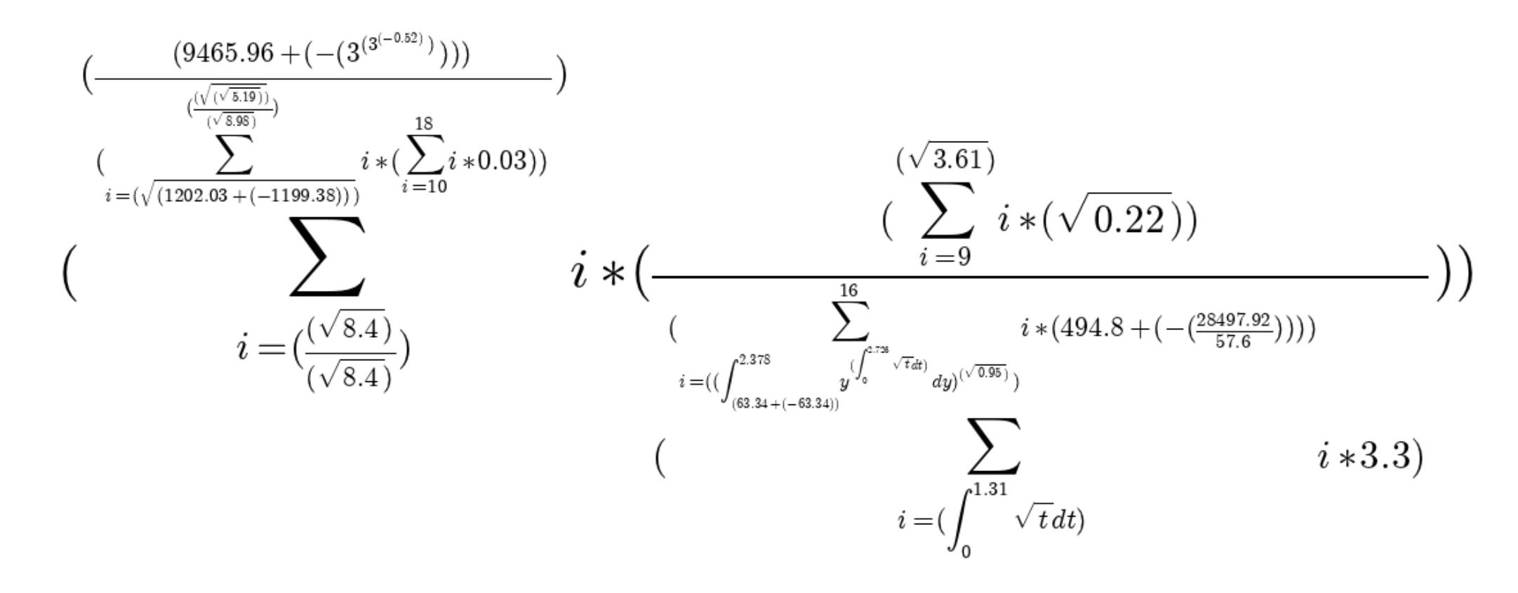 Генератор простых арифметических примеров для чайников и не только