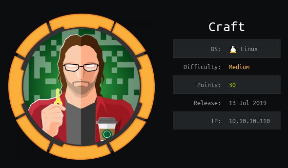 Hack The Box — прохождение Craft. Копаемся в Git, эксплуатируем уязвимости в API, разбираемся с Vault