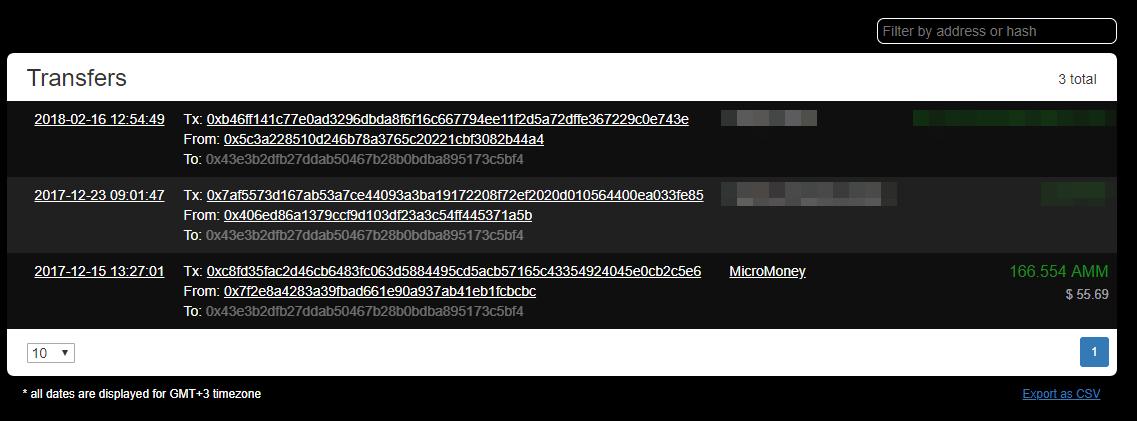 Ethplorer.io - онлайн монитор токенов ETH