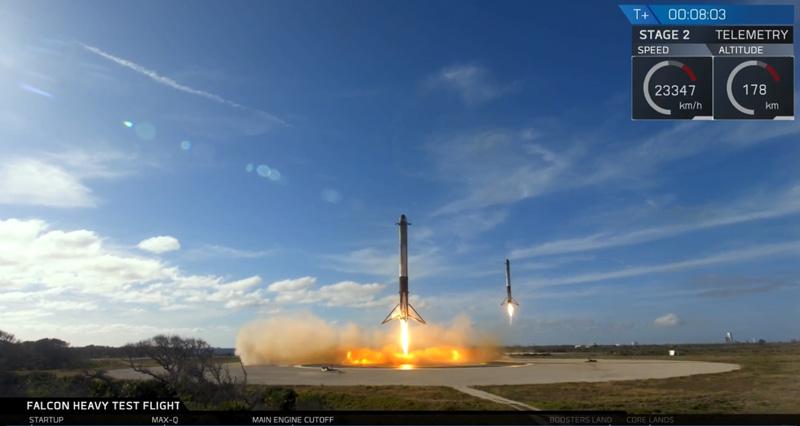 Поехали! Falcon Heavy отправила Tesla на Марс