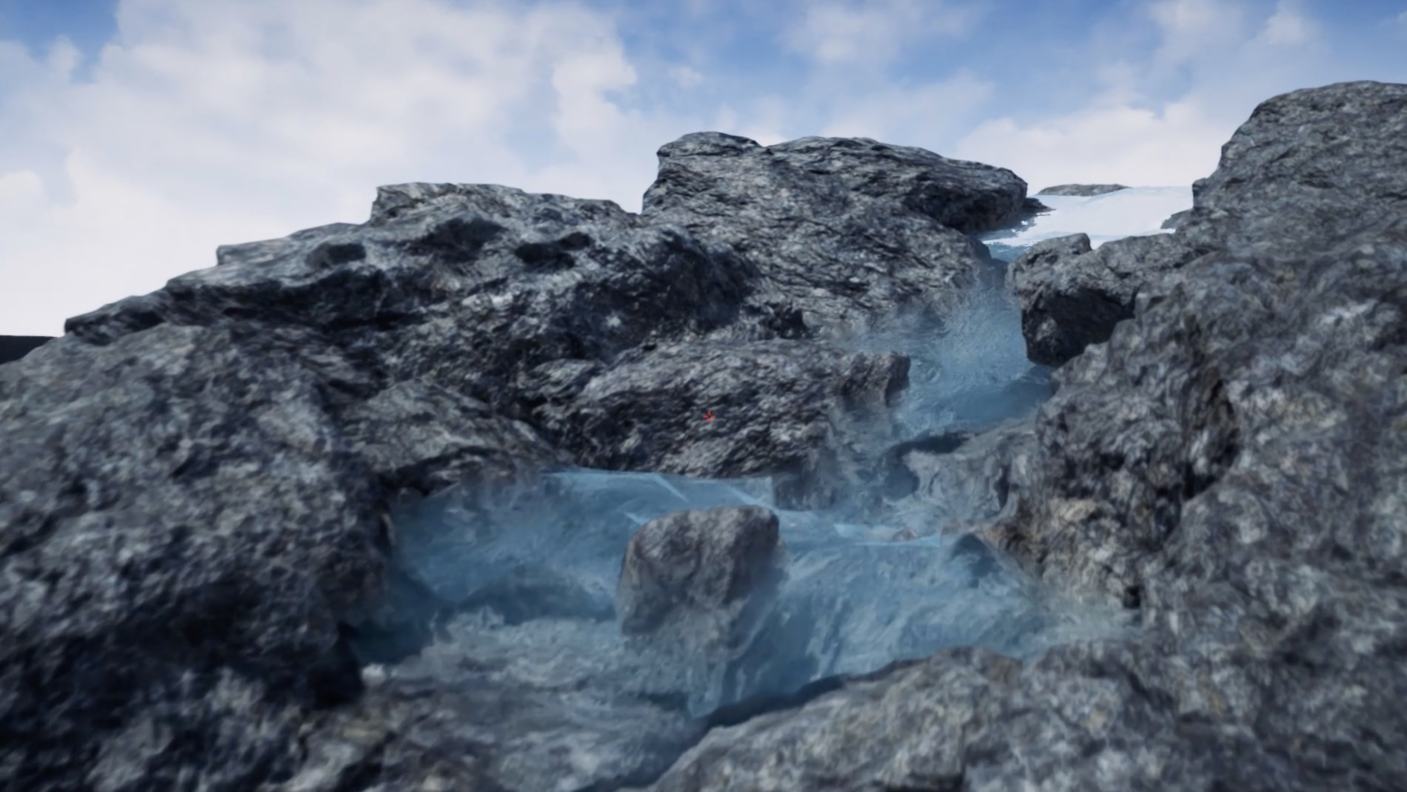 We simulate a realistic river in Houdini and the Unreal Engine 4