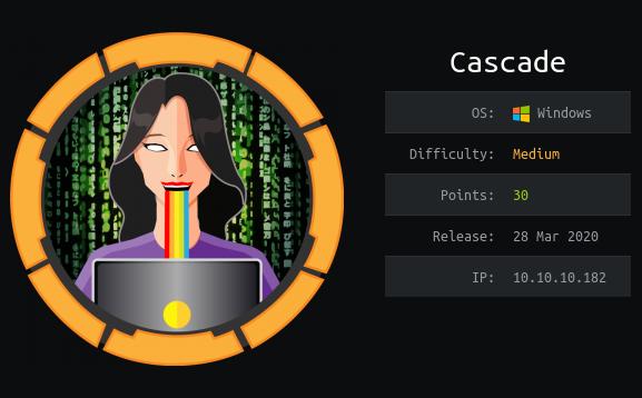 HackTheBox. Прохождение Cascade. LDAP и удаленные объекты Active Directory