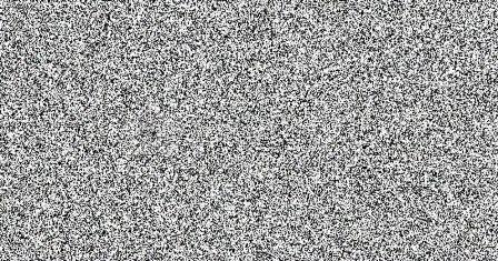 Белый шум рисует черный квадрат