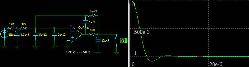 Third Order In-The-Loop Butterworth Low-pass Filter, Step response